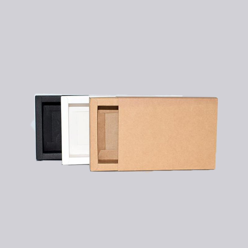 10pcs Large Gift Box Drawer Handmade Gift Cardboard Box Kraft Packaging Boxes Paper White Black Packing Custom Box Geschenkbox in Gift Bags Wrapping Supplies from Home Garden
