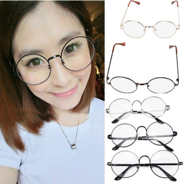 e594e9a9607 1 pc Fashion Clear Lens Eye Glasses Unisex Retro Round Circle Metal Frame  Eyeglasses