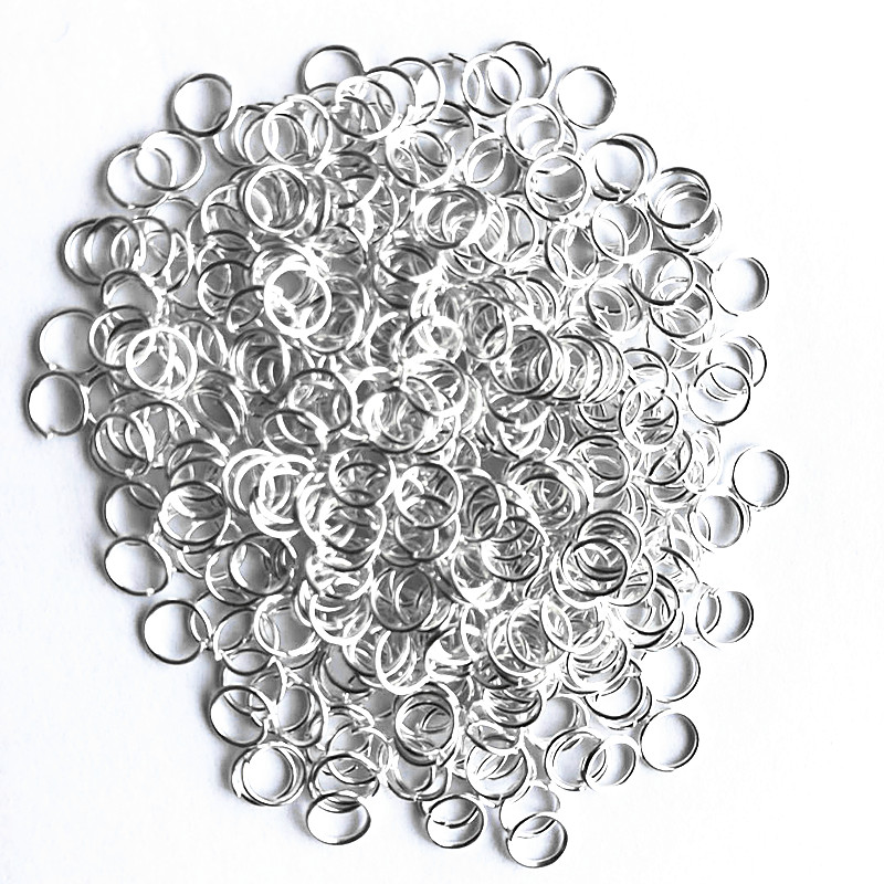 500pcs Sterling Silver Open Jump Ring Silver Components DIY Jewelry 925 silver findings opening rings jewelry making supplies