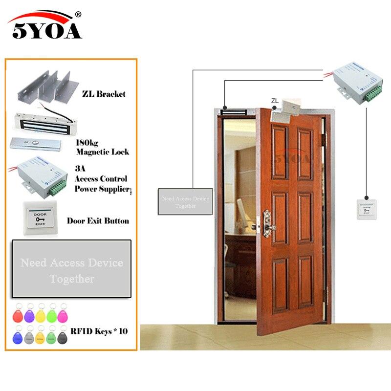 Система контроля доступа RFID отпечатков пальцев, смарт-дверные замки безопасный комплект электронных ворот дома, в гараже цифровой набор Эл...