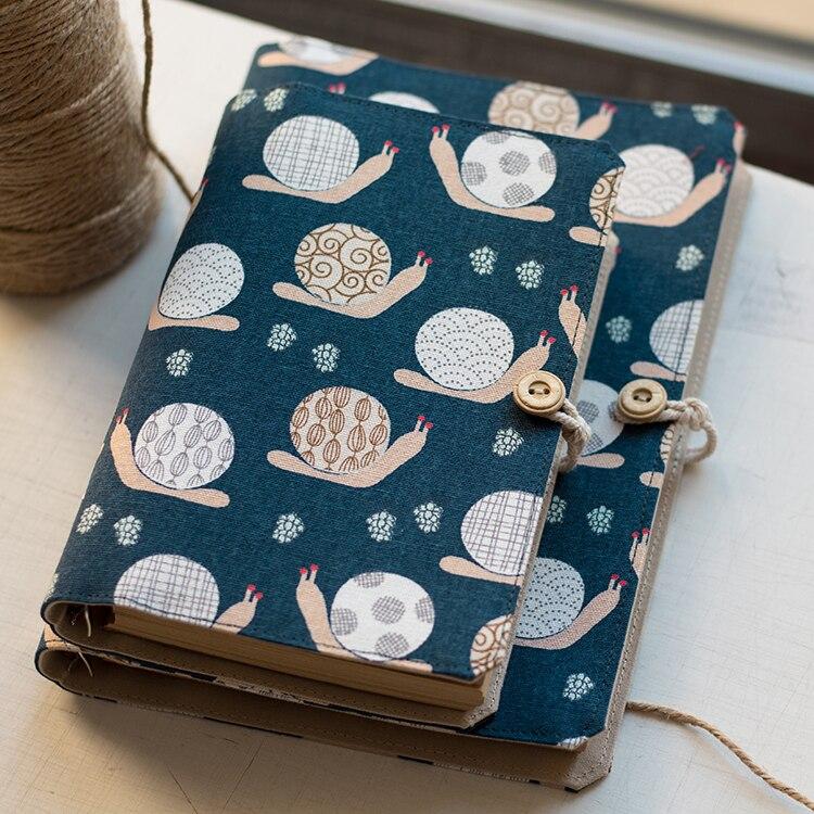 A5 A6 Handmard Lose-blatt-tagebuch Notebook Notebooks Stoff Tuch Nette Schnecke Persönliche Agendar Journal Planer Notizblock Mit Refill Papiere