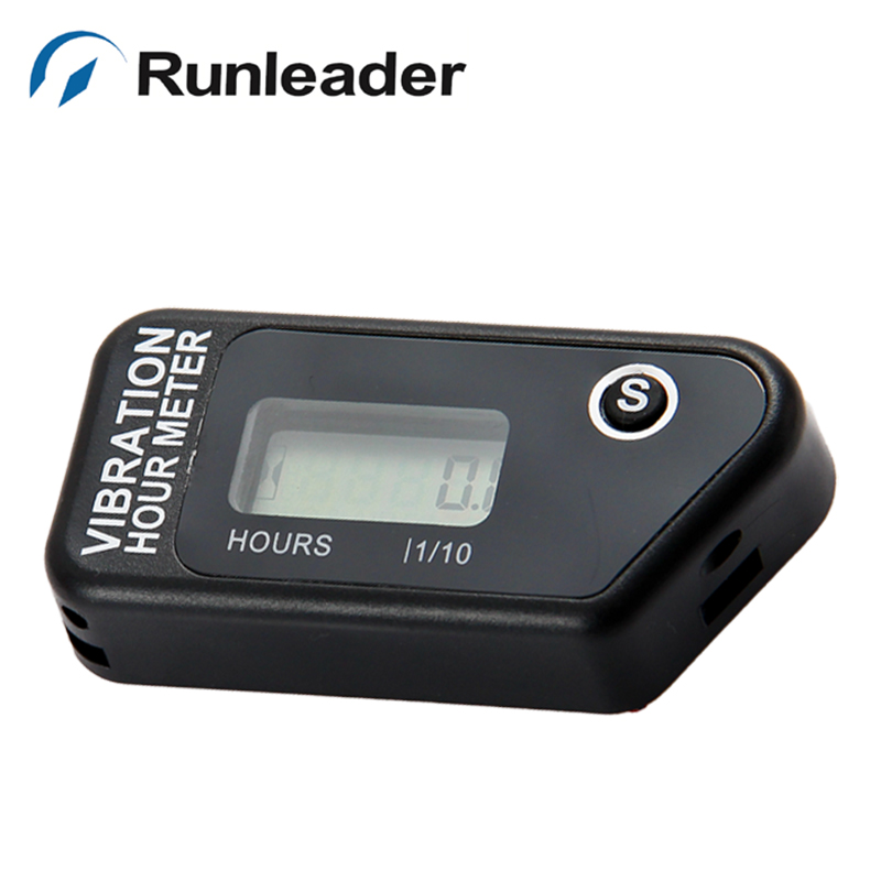 Waterproof LCD Vibaration Hour meter counter For Motocross engine boat Snowmobile pit bike chainsaw jet ski lawn mower marine