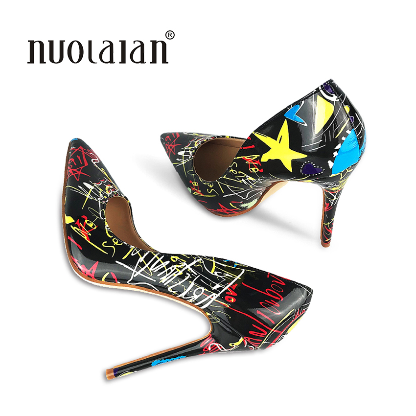 2018 New Fashion women pumps 12CM Stiletto high heel pumps shoes for women sexy pointed toe high heels party wedding shoes woman new fashion runway bowtie high heel shoes 2017 round toe crystal embellished stiletto heels woman sexy high heel shoes