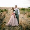 Fantasia de casamento uma linha saia de tule para país Puffy saias mulheres princesa fada 7 camadas de tule Maxi personalizado