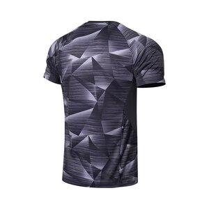 Image 2 - Li Ning, мужские футболки для бадминтона, дышащие, комфортные, для фитнеса, соревнований, верхняя подкладка, спортивные футболки, футболка, AAYN259 MTS2845