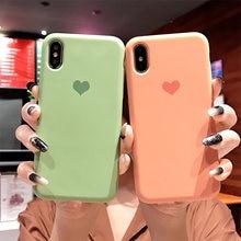 fd339af4311 Fundas de teléfono de silicona líquida mate suave de alta calidad para  iPhone XS MAX XR X 10 8 7 6 s Plus funda amor corazón par.