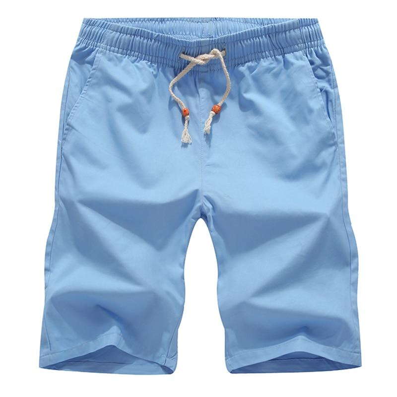 Zomer Katoenen Shorts Heren Modemerk Boardshorts Ademend Heren - Herenkleding - Foto 5