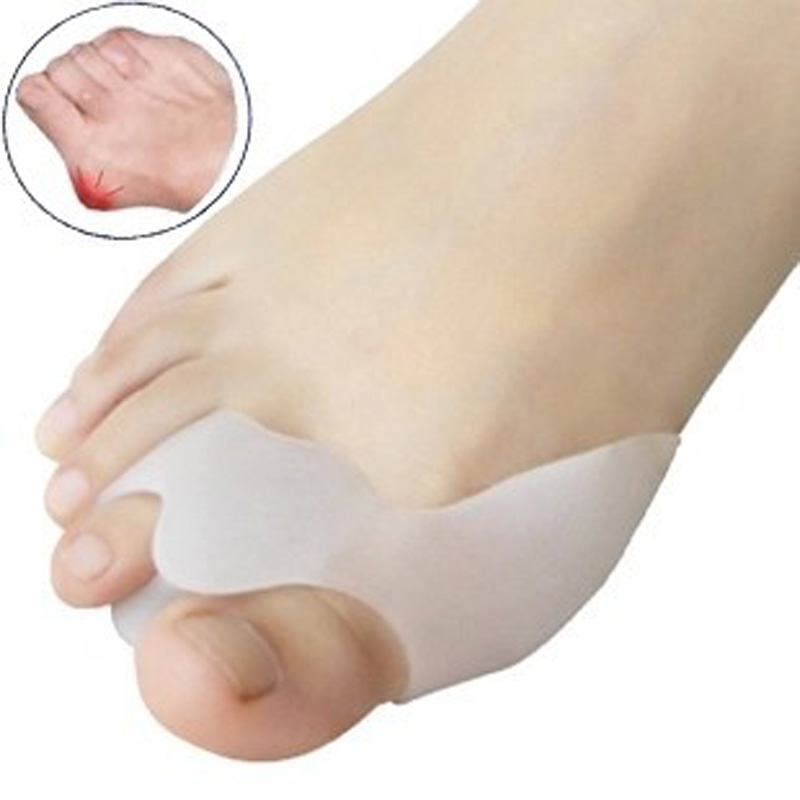1 / 2Pair Silicone Gel Toe Separators Rettemåler Bunion Protector Smertepute Pute Pad Foot Care Hallux Valgus Correction