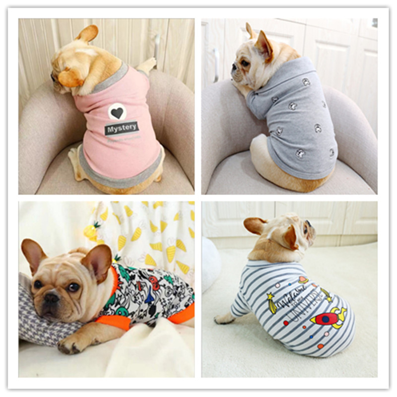 Costume Clothing For Dog Small Medium French Bulldog Pug Dog Clothes Pet Soft Dog clothes French