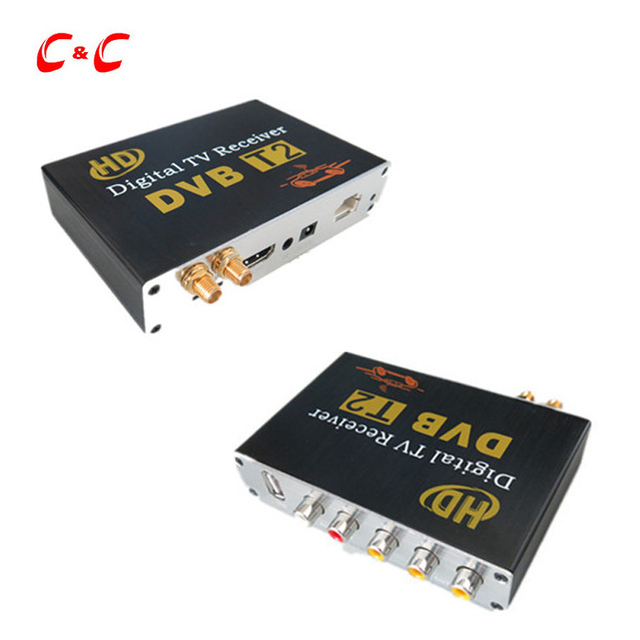 NEW Car DVB-T2 Digital TV Box  Dual Tuner MPEG2 and MPEG4 AVC/H.264