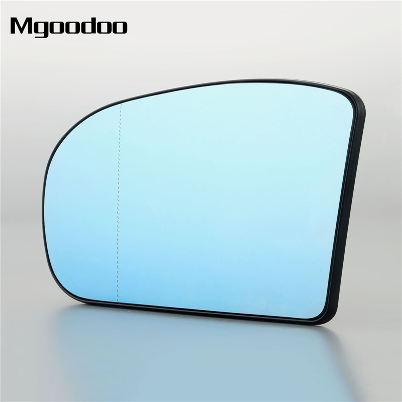 Mgoodoo 1Pc Car Right Side Rear View Mirror Aspherical Heated Glass 2038101021 For Mercedes E C Class W211 W203 Blue Car Styling in Mirror Covers from Automobiles Motorcycles