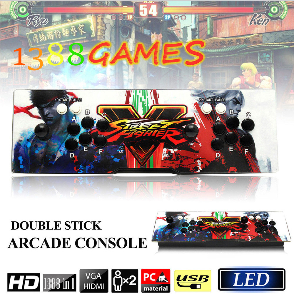 цена на Classic Arcade Game Console 1388 In 1 Retro Game Box 5s Support HDMI VGA USB Output Game Machine Fight Games