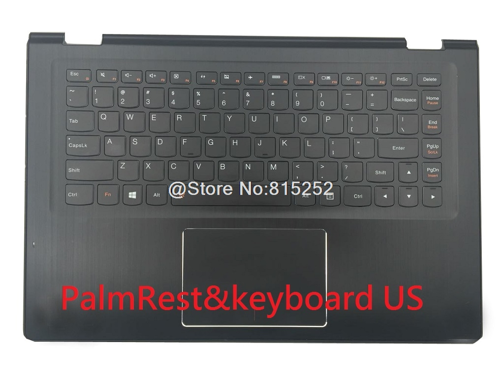 Laptop PalmRest&keyboard For LENOVO Yoga 3 14 English US United Kingdom UK With Touchpad White Black New Original new russian ru laptop keyboard for lenovo ideapad u530 palmrest keyboard bezel cover touchpad with backlit 90204072 black