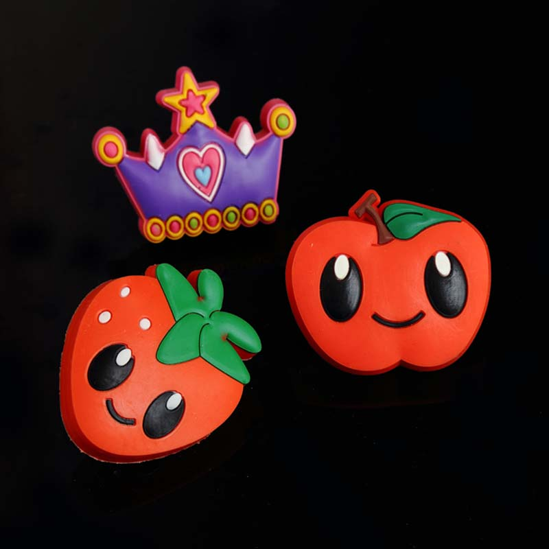 cute cartoon soft plastic children room furniture safe handle apple crown strawberry drawer shoe cat safe furniture