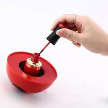 1Pc Red Plastic Nail Polish Holder Anti-down Bottle Holder Nail Art Manicure Tool