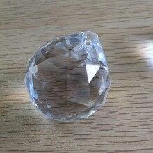 40mm glas kronleuchter kugeln 40 stcke kristall facetten prism kugeln kristall fenster prismen kristallkugeln fr suncatcher - Kronleuchterkugeln