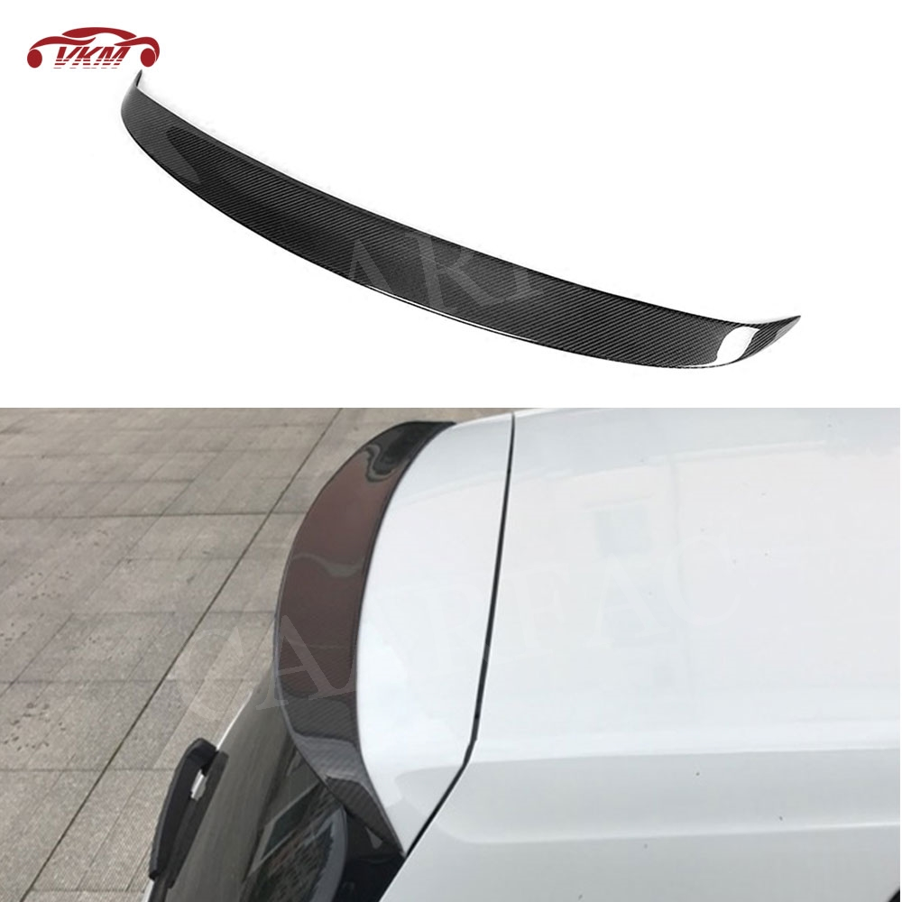MK7 Carbon Fiber Rear Spoiler Roof Wings for Volkswagen VW <font><b>Golf</b></font> 7 VII MK7 Standard Rline 2014-2017 Not For GTI and <font><b>R</b></font> image