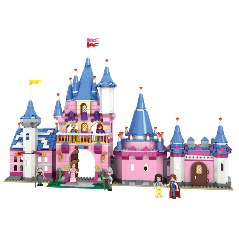 Princess Series Snow White Castle Carriage Building Blocks Sets Bricks Friends Model Kids Classic Movie Toys Compatible Legoings movie series king castle battle siege set model building block bricks toys compatible legoings city castle 7094