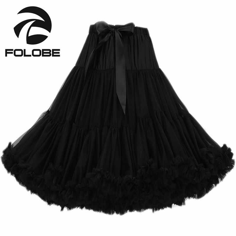 1c9ab8ce1 FOLOBE Fashion Black Dancewear Party Prom Skirts Tutu Tulle Skirts  Petticoats Women Girls Underskirts Faldas Saias