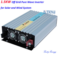 1500w pure sine wave inverter for solar system wind system use,off grid type for 12v/24v/48v DC to AC 110v/220V home us