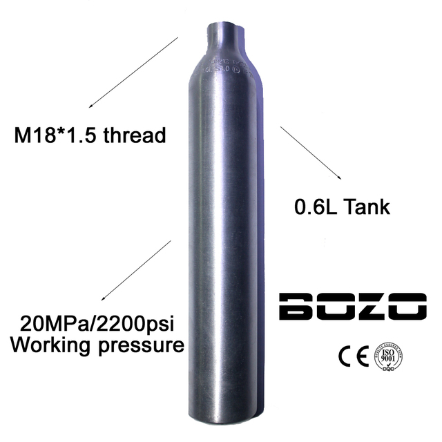 US $18 86 5% OFF|Paintball airsoft PCP Sodastream Tank Mountaineering  Diving Cylinder 2200psi 15MPA 0 6L HPA High Compressed Air Bottle  M18*1 5-in
