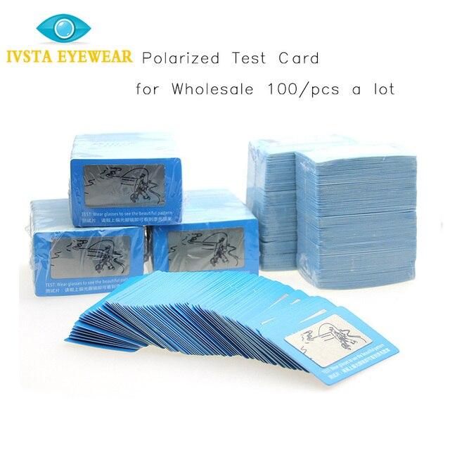 O Envio gratuito de Atacado 100 peças lote TAC Lente Polarizada Cartão De  Teste para f8cb059228