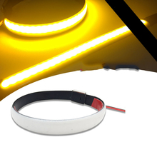 High Quality Flasher Ring motorcycle led Lights New Motorcycle LED 45mm-70mm Fork Turn Signal Strip Light Amber Lamp For Harley tiptop new mini strip black led motorcycle turn signal universal amber lights strip 9led mar29