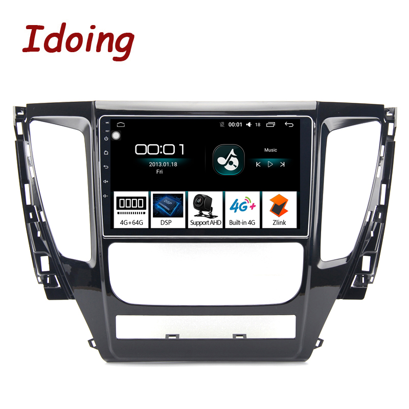 Idoing 9 4G 64G 2 5D Octa Core Car Android 8 1 Radio Player For MITSUBISHI