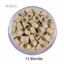 1000 шт 5,0 мм* 3,0 мм* 3,0 мм микрокольцо con vite, Силиконовые микро кольца/бусины для наращивания волос. 9 Цвета опционально