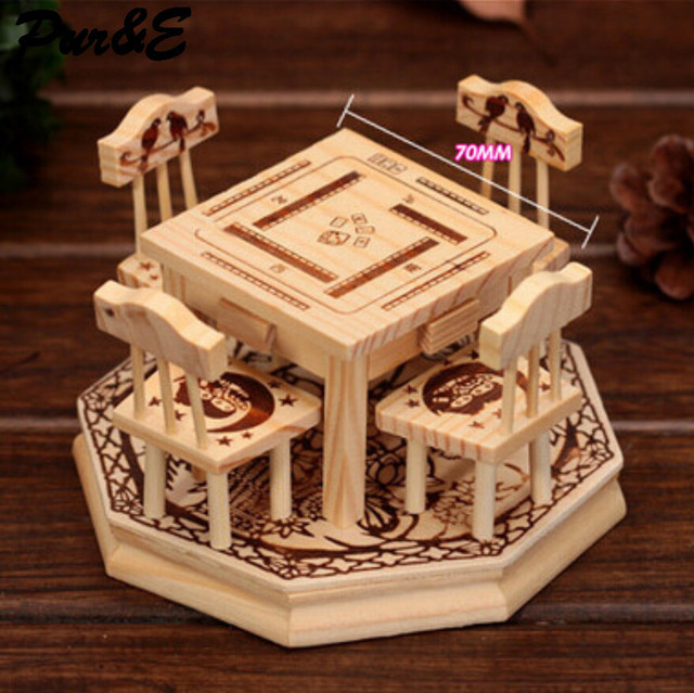 Fashion Furniture Combination Mahjong Table Decoration Crafts Gifts  Creative Home Handicraft HDC1037