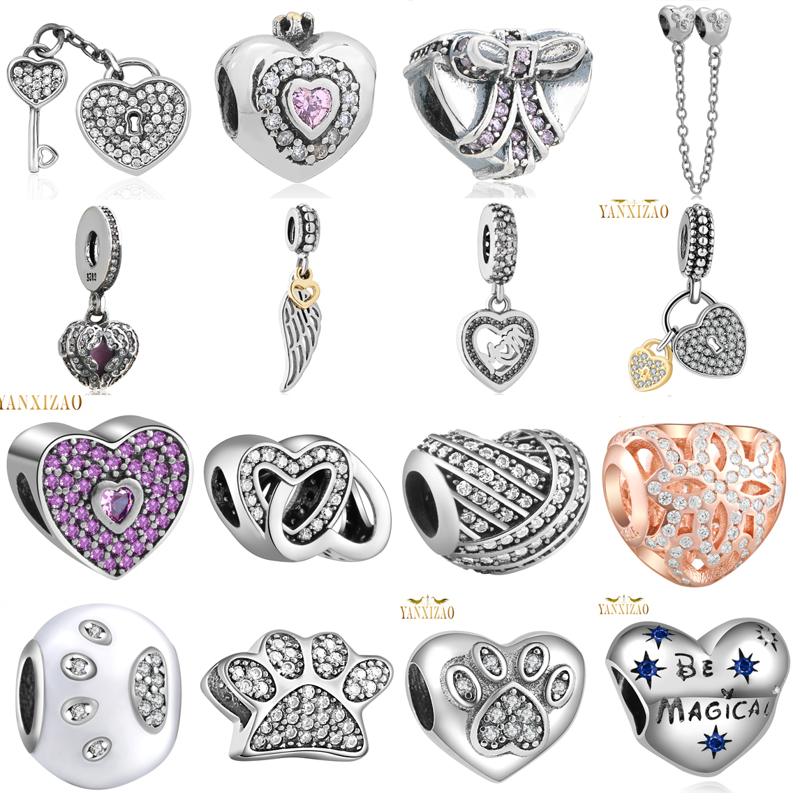 Pandora Style Jewelry: Aliexpress.com : Buy Hot 925 Silver European Cubic