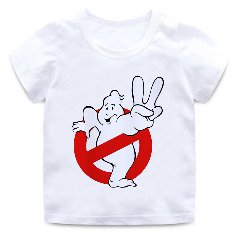 Fashion Summer Ghostbuster Kids T-Shirt Boys and Girls Movie Tops T-Shirt Baby Top Cartoon 3D Print Round Neck T-Shirt