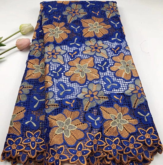 Hot sale latest african laces 2018 african cord lace fabric with stone high quality 5yards nigerian