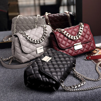 NIGEDU Messenger Bags women Chains Shoulder Bag Diamond lattice luxury handbags women bags designer Female Totes small bolsas