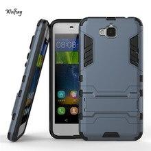 Case Huawei Y6 Pro Обложка Мягкая ТПУ & Light PC Case Для Huawei Y6 Pro Case Наслаждаться 5 Тонкий Телефон Coque Бизнес-Держатель Стенд