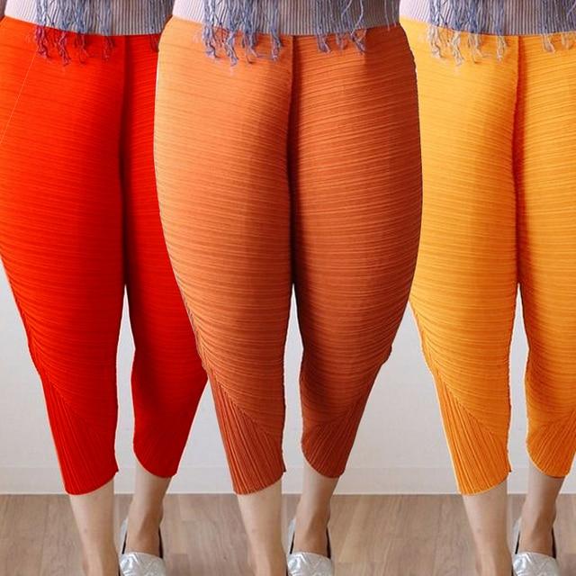 2017 Mode Plus Ukuran Longgar Celana Ayam Goreng Untuk Wanita Elastis Pinggang Harem Celana Lebar Kaki Celana Pantalon Mujer