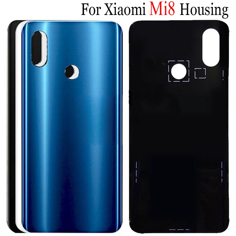 Original New <font><b>Xiaomi</b></font> <font><b>Mi</b></font> <font><b>8</b></font> <font><b>Battery</b></font> <font><b>Cover</b></font> Mi8 Explorer Back Glass Panel For <font><b>Xiaomi</b></font> Mi8 SE <font><b>Battery</b></font> <font><b>Cover</b></font> 8SE Rear Door Case Mi8 Lite image