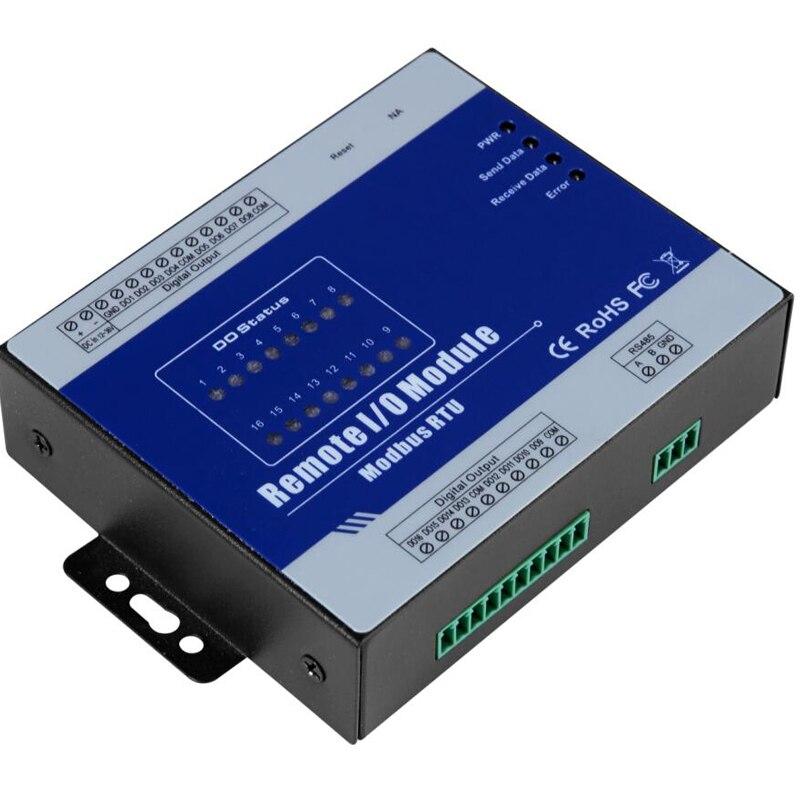 Module IO à distance Modbus RTU prend en charge le module d'acquisition de données de haute précision M420 de type évier à sortie numérique PWM 16