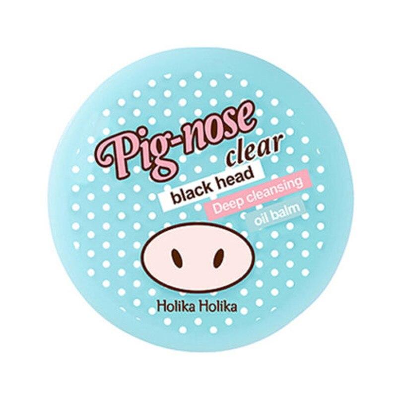 HOLIKA HOLIKA Pig nose Clear Black Head Deep Cleansing Oil Balm 25g Nose Blackhead Remover Shrink Pores Peel Off Acne Treatments