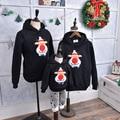 Зимой Семья посмотрите соответствующие маму Толстовка плюс красный нос оленей свитер отец мать дочь сын наряды Рождество Пижамы одежда