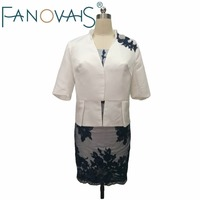 White And Royal Blue Mother Of The Bride Dresses With Jacket Plus Size Half Sleeves Lace
