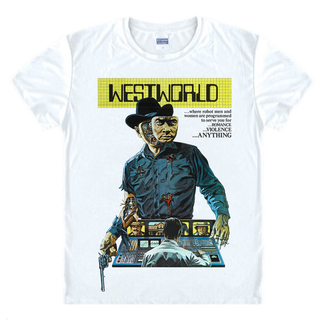45c3148763b Hot TV Westworld T Shirts Men movie O Neck male t-shirt Short Sleeve Mens