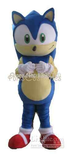 98740d262446 High quality cutom little Sonic X Hedgehog Mascot Costume Character  Halloween Costumes Fancy Dress Suit Free