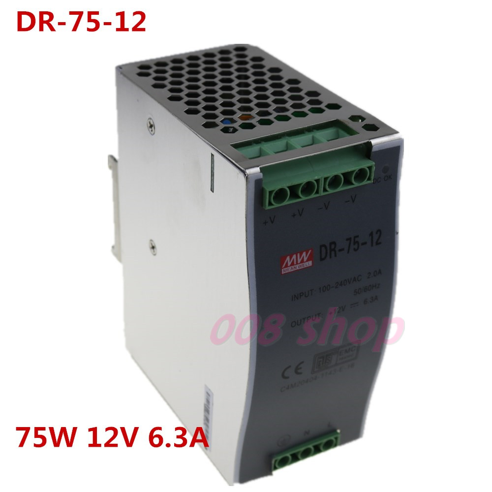 12 V6.5A Din Rail Single Output Switching power supply DR-75W-12 V