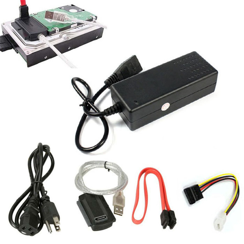 USB 2.0 to IDE PATA SATA 2.5 3.5 Hard Drive HD HDD Converter Adapter Cable New