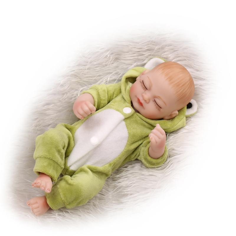 Cheap 10 inches 25 cm Full Silicone Reborn Baby Dolls For