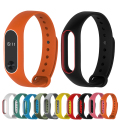 for Mi band 2 Strap Colorful Silicone Wrist Strap Smartband Bracelet Dual Color Replacement watchband for Xiaomi Miband 2
