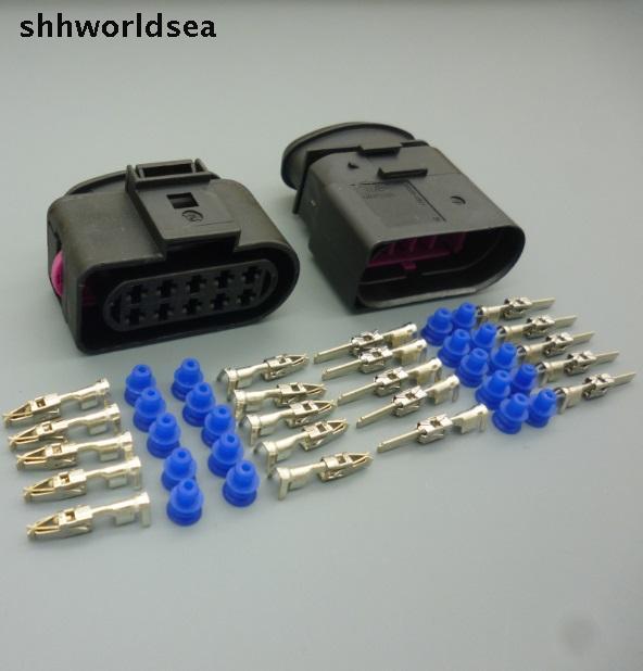shhworldsea 10Sets 10 Pin car headlight plug connector for VW series,Auto waterproof connector