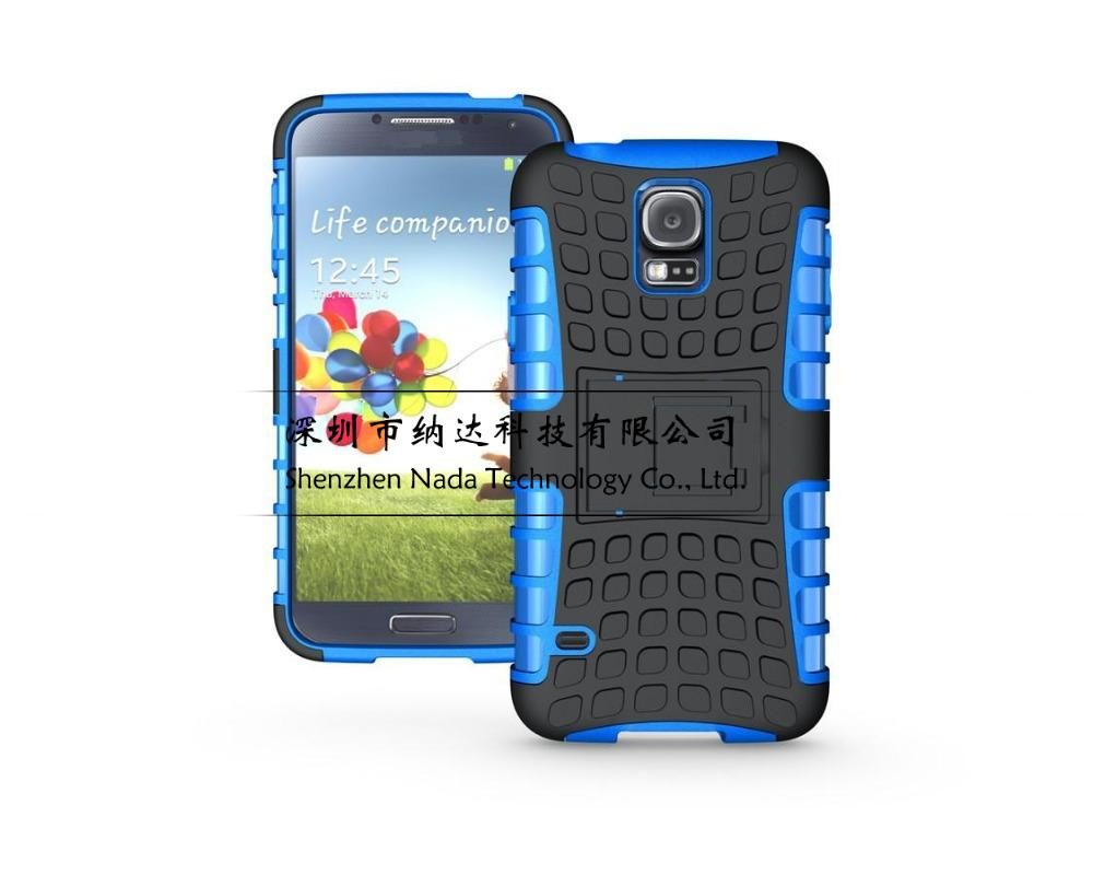 Tire Style Rugged Dual Layer Hard Kick Stand Tough Hybrid Armour Case for Samsung Galaxy S5 Mini G800 KickStand Duty Armor Case