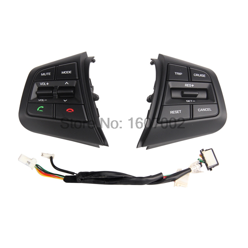 For Hyundai ix25 Creta 1.6L Steering Wheel Cruise Control Buttons Remote Control Volume channel Bluetooth Phone Button high quality for hyundai ix25 2 0l steering wheel control buttons supervision panel button without clock spring creta